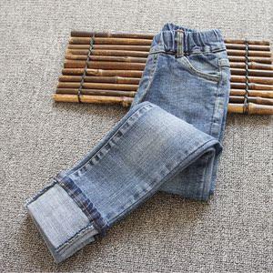 女童牛仔长裤2020新款春儿童中大童弹力修身裤子春秋洋气小脚裤潮