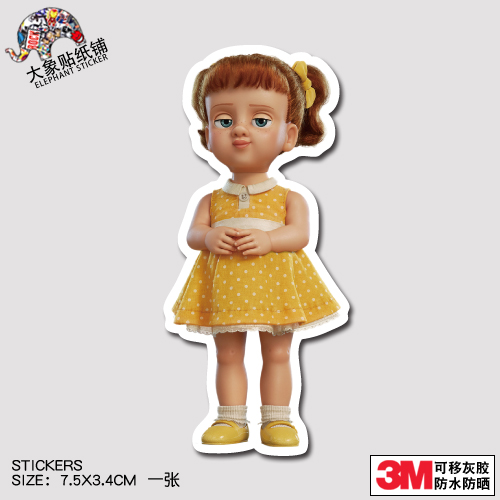 D Toy Story sticker trunk sticker cover than doll sticker personalized notebook waterproof sticker
