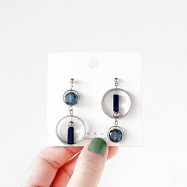 韩国东大门冷淡风不对称金属玻璃水晶耳环女气质耳钉耳夹耳饰品女图片