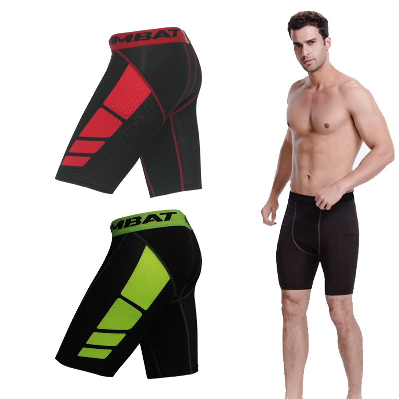 Sports tight shorts mens football quick dry bottoming training tackle shorts fitness 5-point pants quick drying and breathable spring and summer