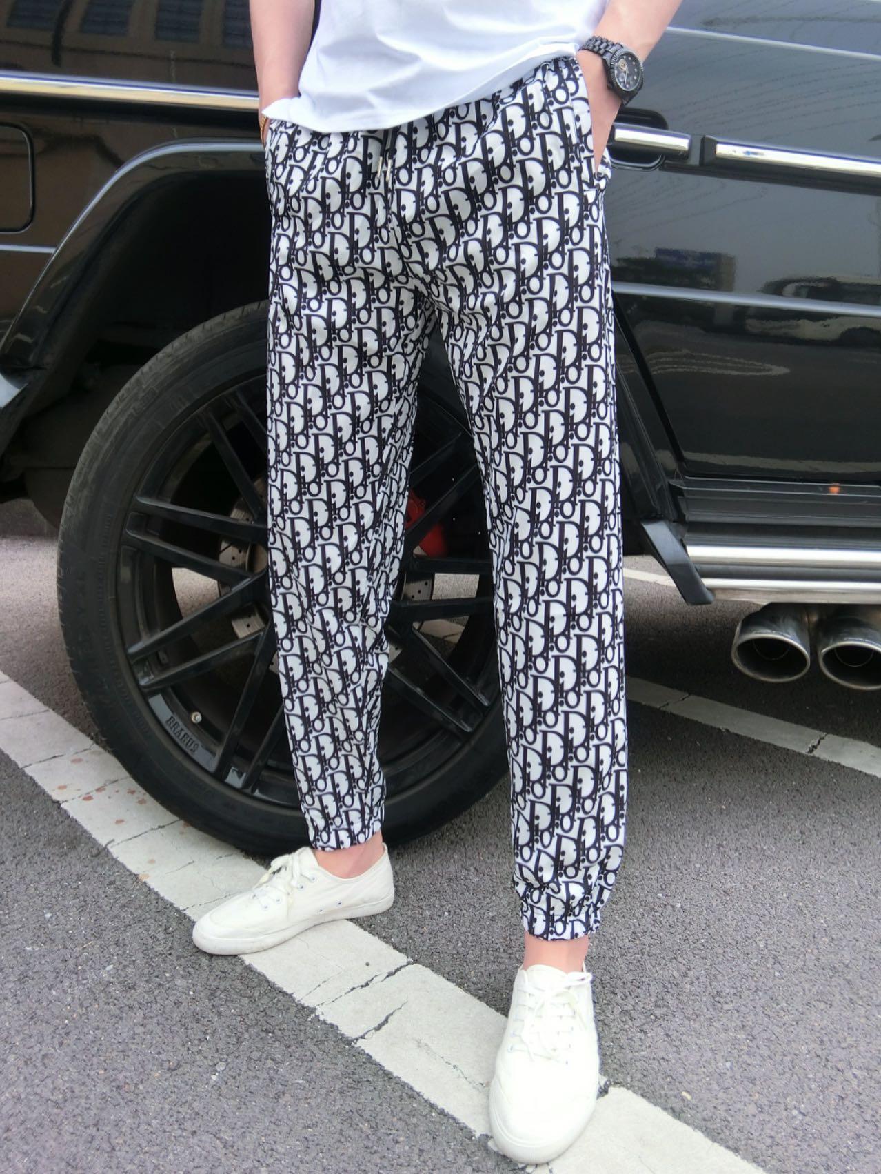 热销20件限时2件3折皇家男爵v欧洲站高档男夏季冰丝超薄滑料舒适修身精神小伙小脚裤