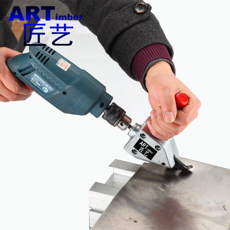 古业电钻变铁皮剪刀 铁丝网不锈钢金属薄板切割器 彩钢瓦裁剪剪刀