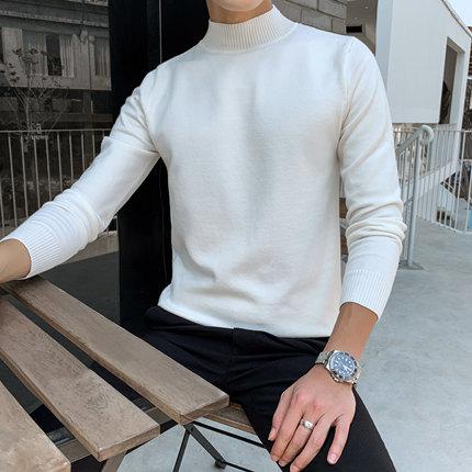 毛衣外套男白色秋季图片