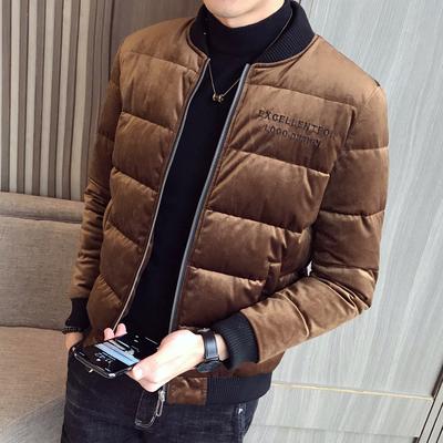 [新景]2018冬装新款丝绒棉衣 A011-D81*P125[限价168]焦糖
