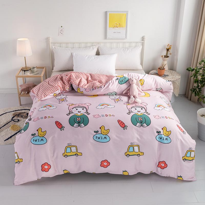 儿童小孩宝宝幼儿园全棉被套罩学生纯棉单件110120130150200包邮