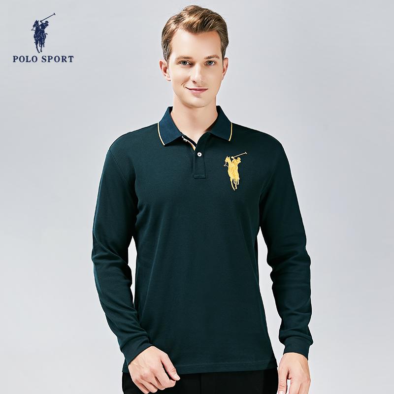 Autumn mens Polo Shirt spring outdoor sports long sleeve polo shirt comfortable versatile Lapel Fashion Top