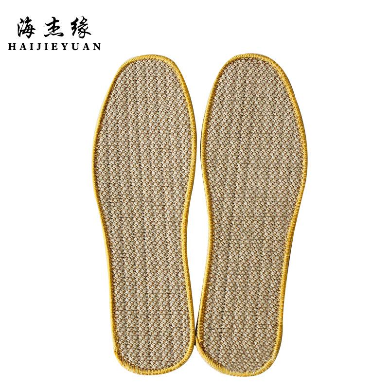 Linen insole mens pure cotton linen fabric sweat absorption deodorant fragrance antibacterial comfortable sports shock absorption women cool in summer