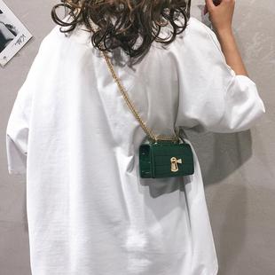 迷你小包包女包新款2021爆款个性小方包休闲简约链条单肩斜挎包潮