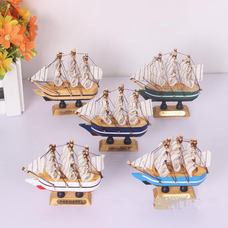 一帆风顺木质插件地中海生日帆船