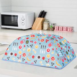 可折叠保温菜罩子盖菜罩餐桌罩食物罩圆形大号饭碗遮菜盖伞家用