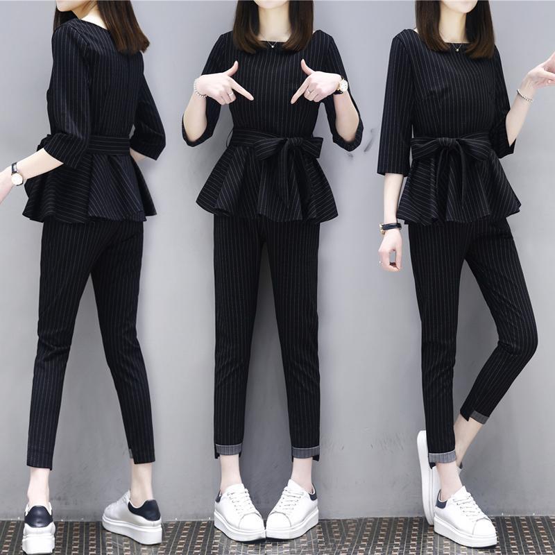 夏季套装新款大码女装两件套显瘦(用100元券)