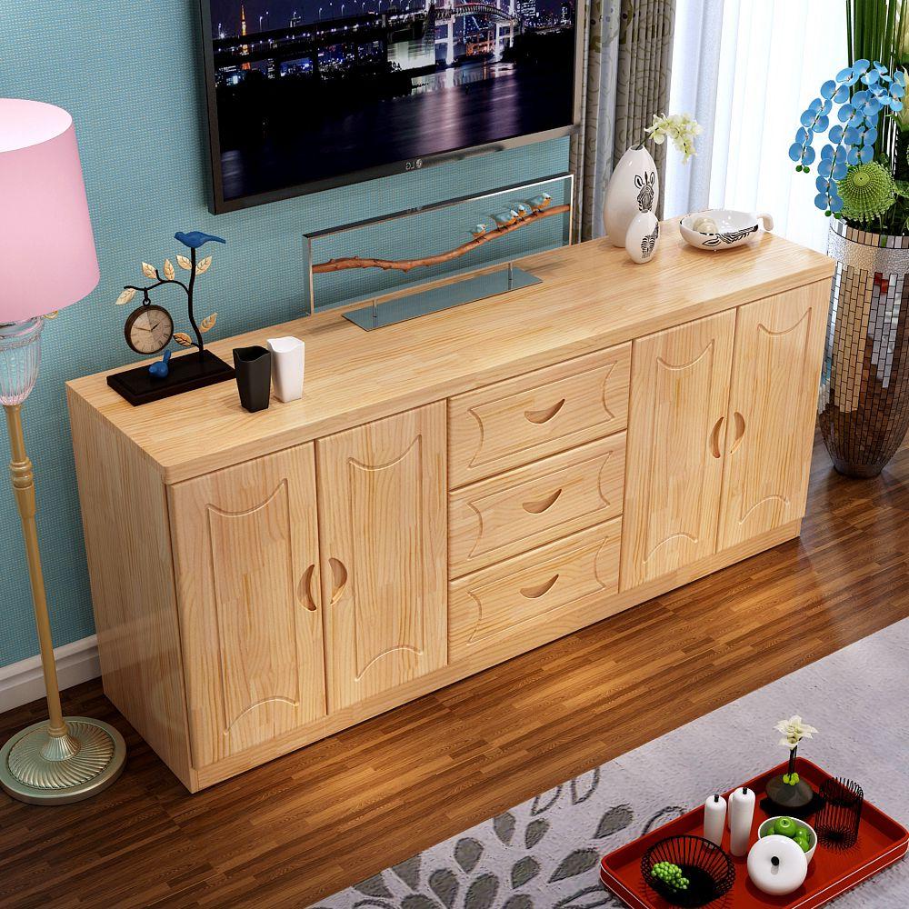 实木电视柜简约现代田园小户型客厅储物柜地柜松木视听柜中式家具