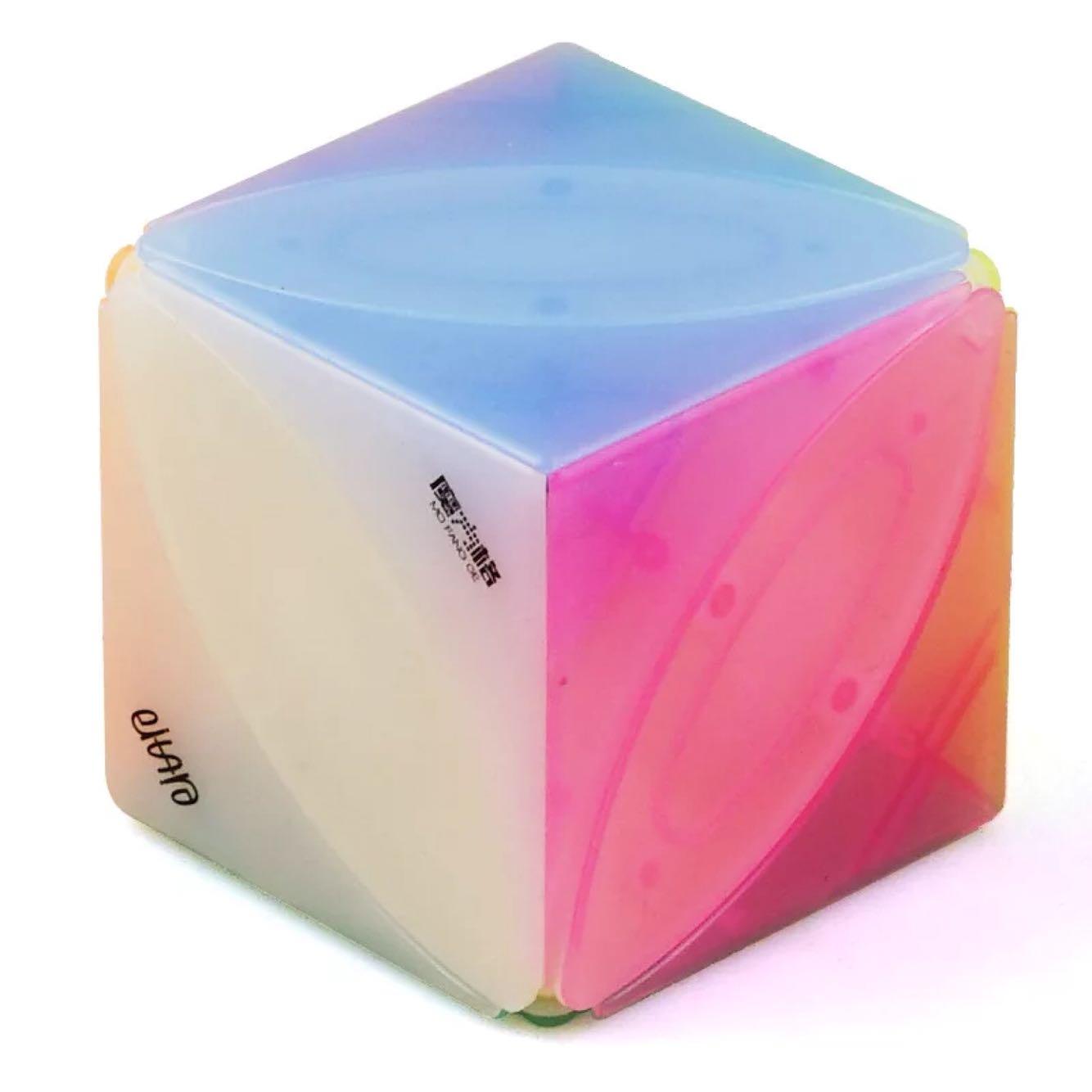满20.00元可用1元优惠券奇艺魔方格枫叶果冻色魔方异形变体透明款顺滑好看树叶子可爱魔方