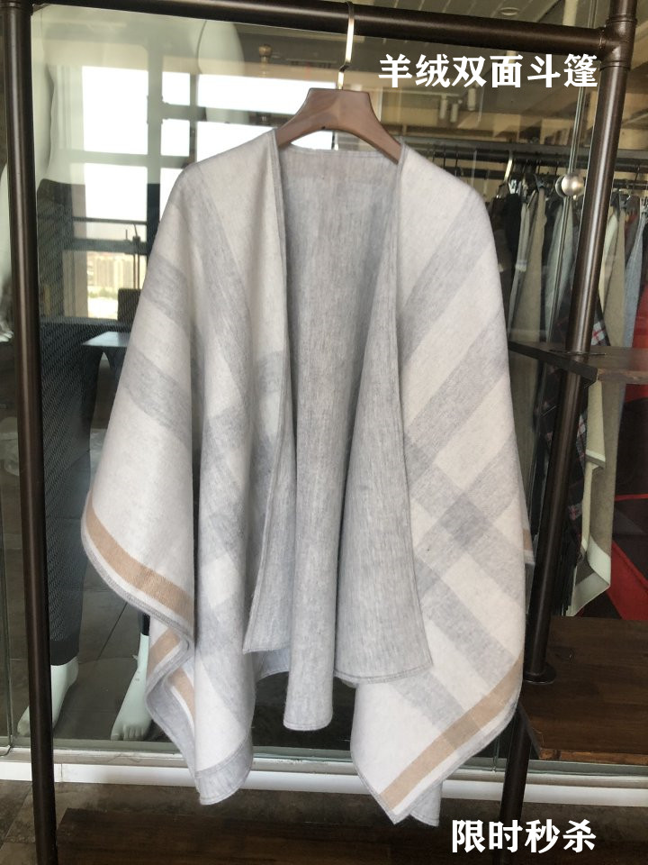 Private light luxury wool classic Plaid Cape tassel double face mother daughter thickened office thermal large size