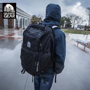 花岗岩户外旅行双肩包大容量背包男女多功能防水登山包17寸电脑包