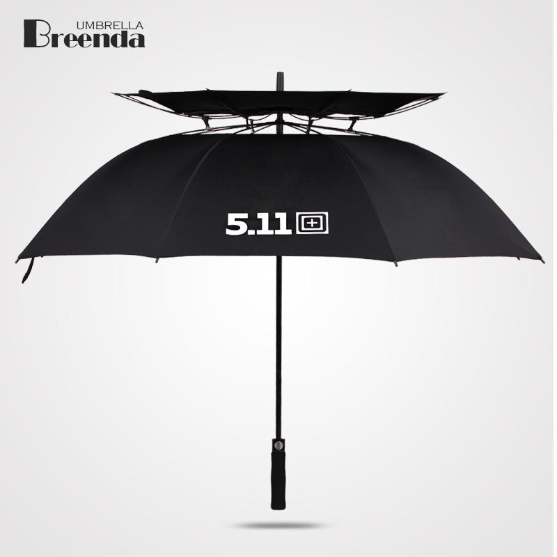 511男士商务雨伞长柄创意汽车标超大双人三人高尔夫伞真双层防风