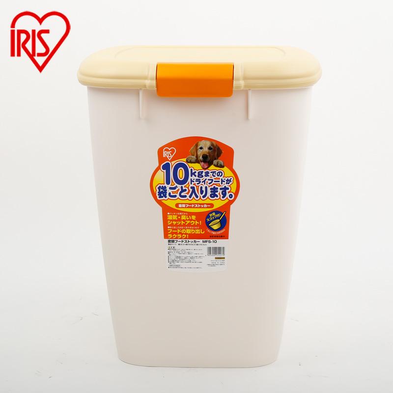 愛麗思IRIS 密閉防潮防異味環保樹脂寵物貓狗糧儲糧桶MFS~10綠