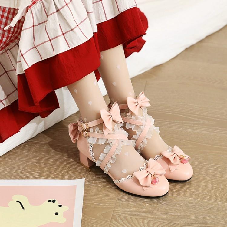 Lori shoes girl student round head cute soft girl uniform JK big head baby shoes Lolita shoes