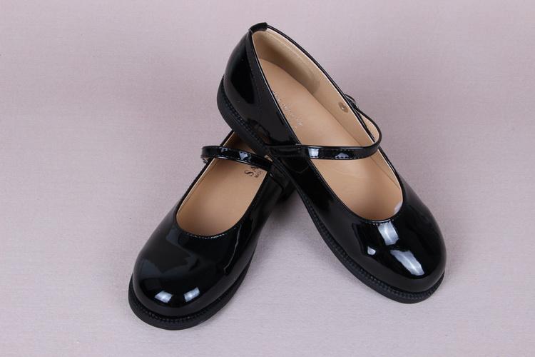 加软新品改版lolita日系漆皮学院风学生鞋制服鞋表演鞋单鞋一字扣