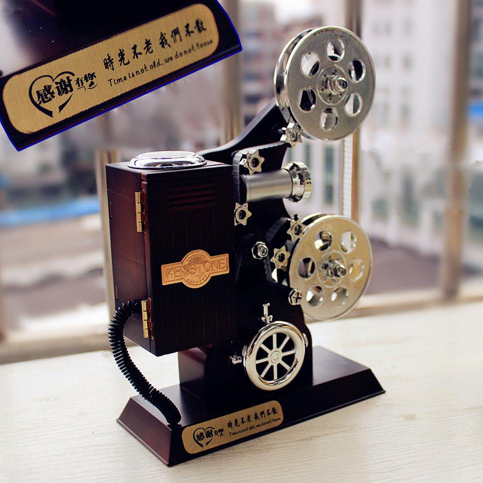 复古电影放映机创意生日礼物女生送同学闺蜜走心七夕礼品送男生友