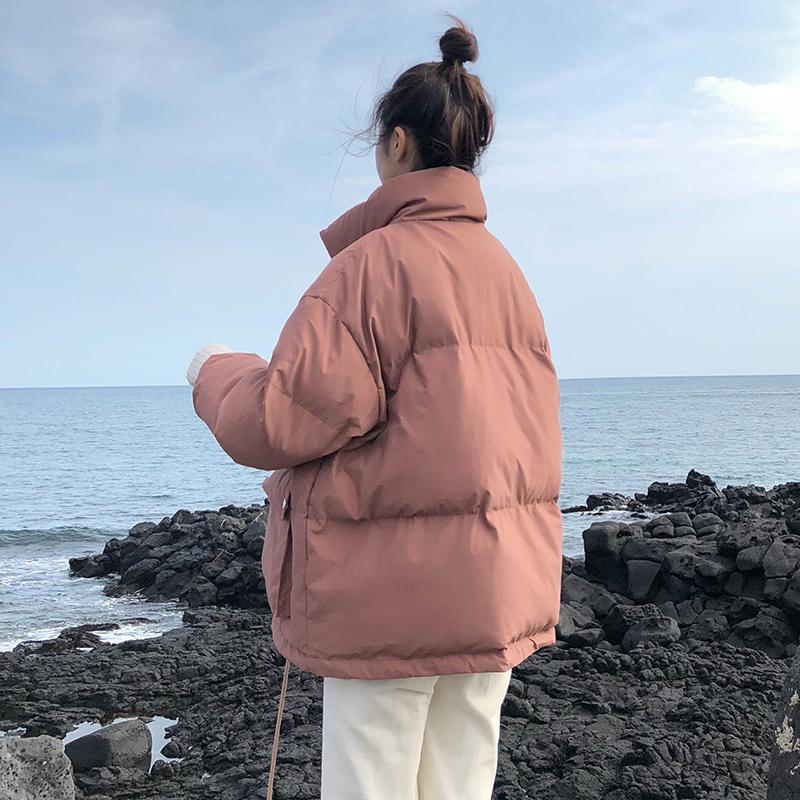 ins短款蓬蓬面包服小个子学生宽松外套潮2018冬季新款韩版棉服女
