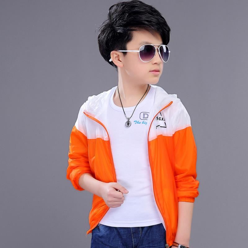 Boys sun suit 2020 summer light and breathable coat childrens sun proof clothing double skin clothes