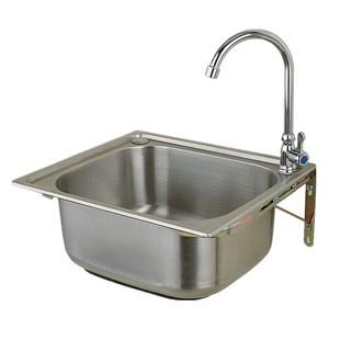 304不鏽鋼水槽大小單槽 帶支撐架子套餐 洗菜盆洗碗池洗手盆包郵