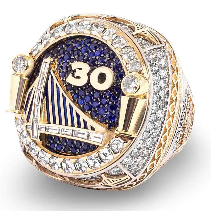 NBA金州勇士队2018年库里杜兰特总冠军戒指纪念收藏节日定制指环
