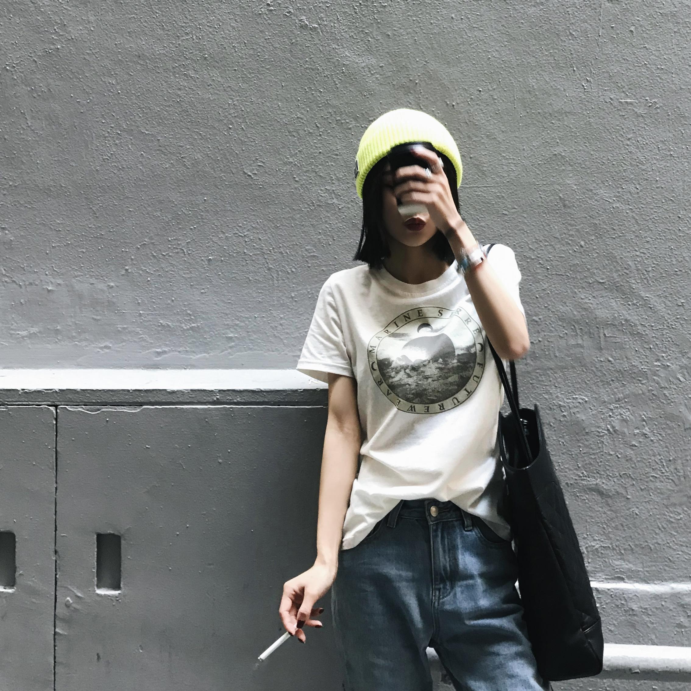 全棉t恤女短袖