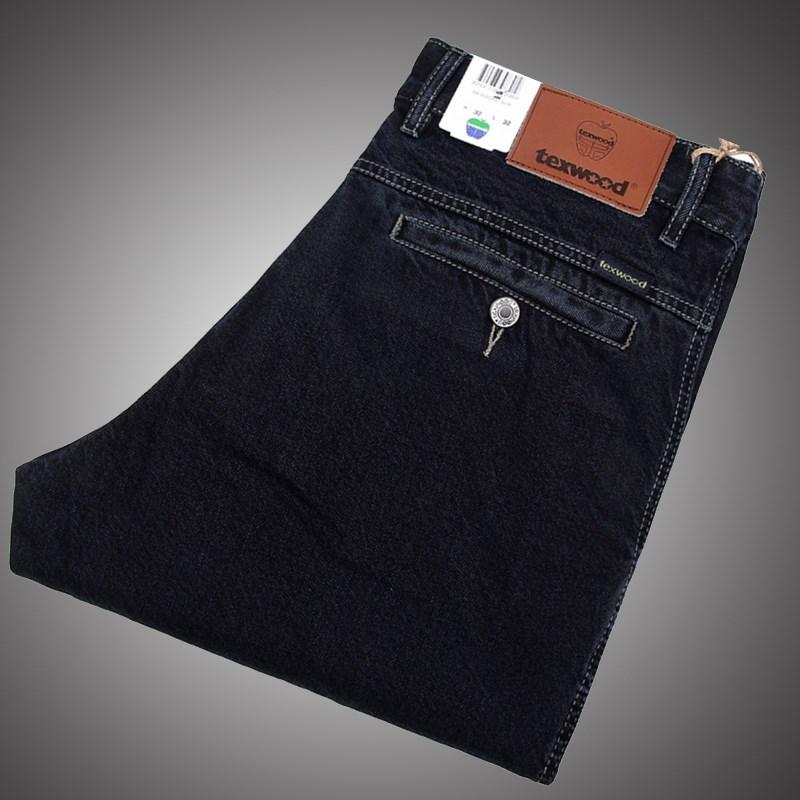 苹果春季品牌美国牛仔裤男宽松中年纯棉大码直筒中老年长裤土
