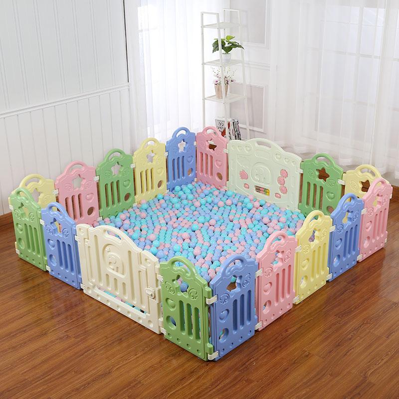 宝宝游戏围栏儿童安全栅栏家用爬行垫学步婴儿围挡室内玩具防护栏
