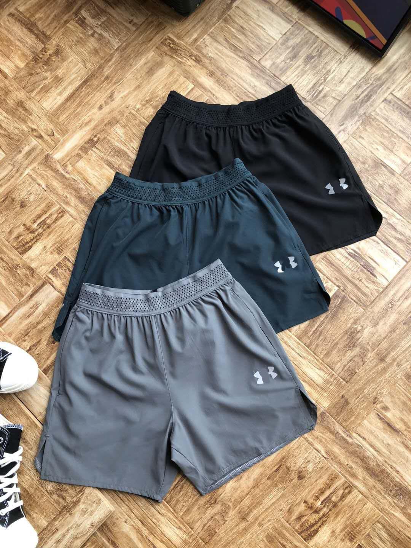 安家男子户外跑步健身训练速干短裤宽松休闲运动快干透气三分裤