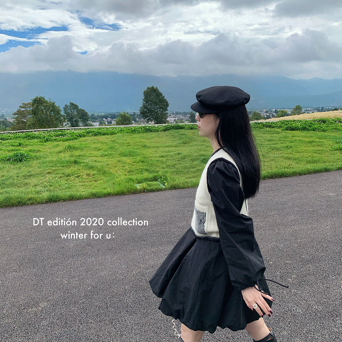 量訫2020法式圆领泡泡裙摆小公主裙