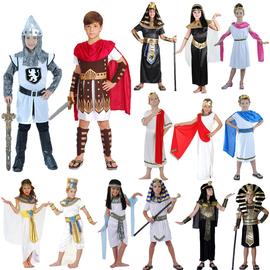 cosplay六一儿童节男童古罗马武士骑士衣服 女孩希腊公主王子服装