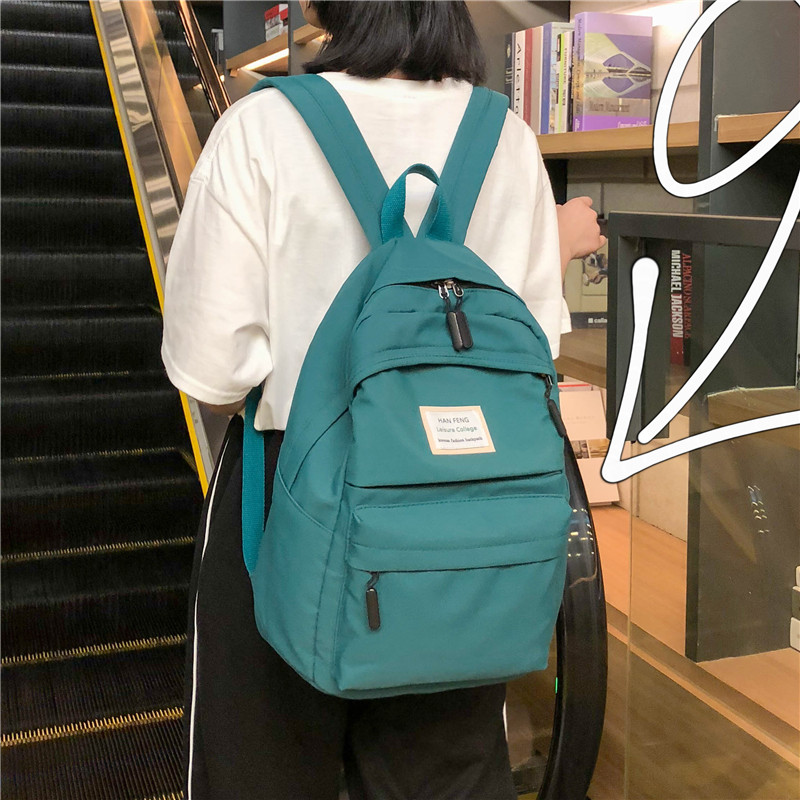 古着感少女书包韩版高中大学生校园百搭双肩包ins风2019新款背包