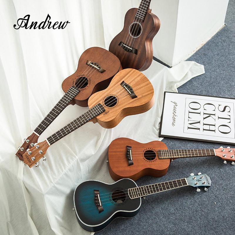 安德鲁尤克里里初学者学生成人女男23寸乌克丽丽入门26小吉他单板