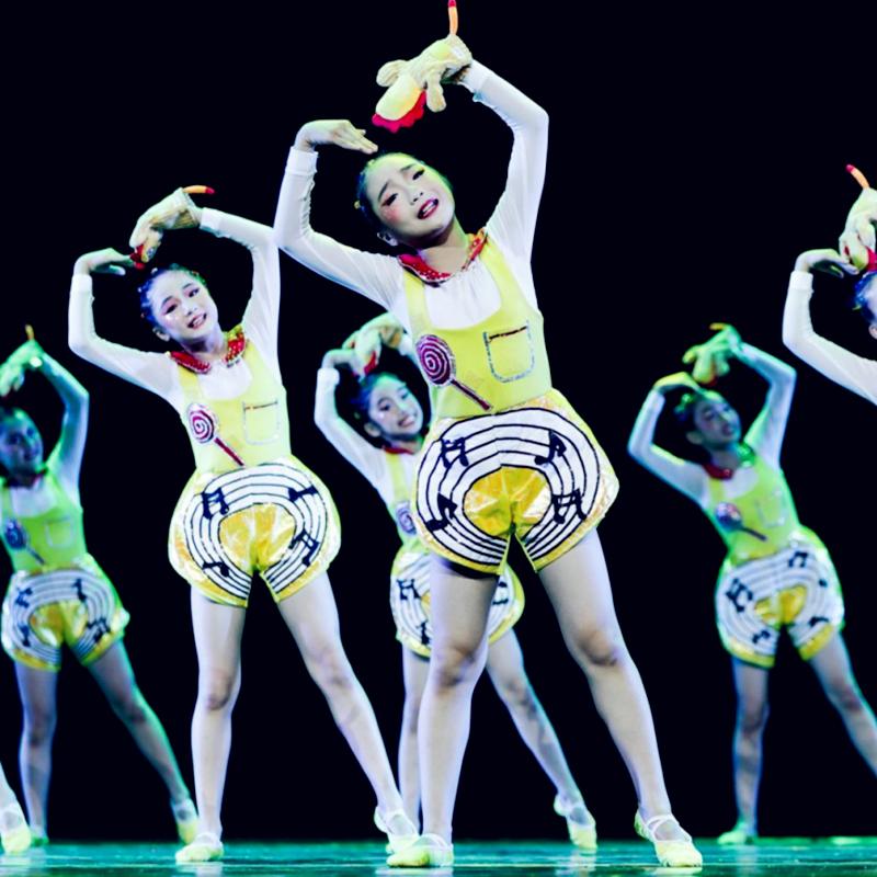 第十届小荷风采新声儿童演出服少儿快乐的音符表演服合唱团舞蹈服
