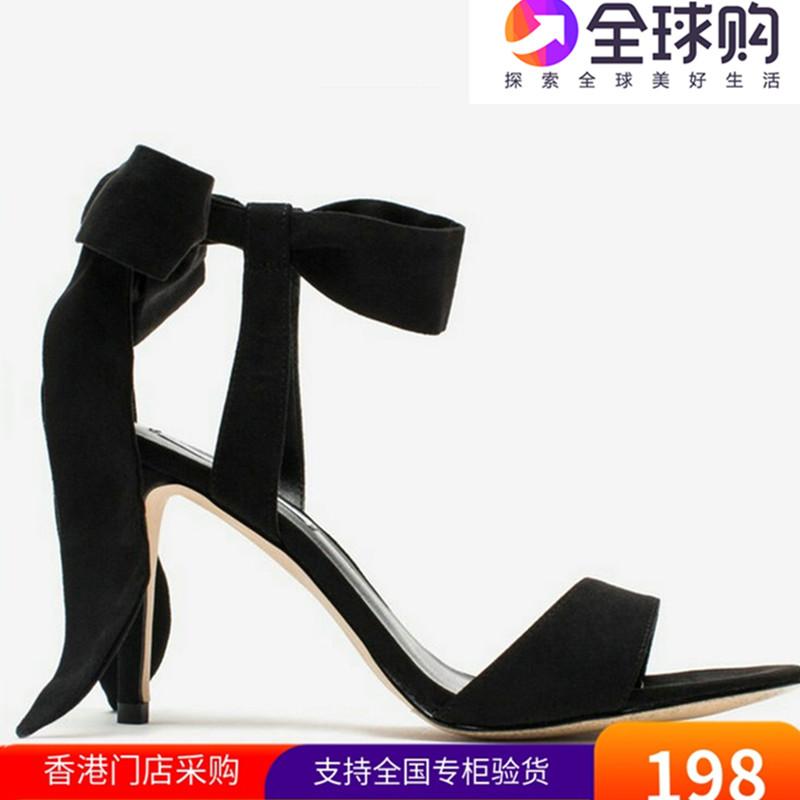 香港代购小ck女鞋新款仙女一字凉鞋蝴蝶结绑带高跟细跟CK1-603609图片