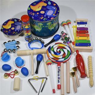 奥尔夫乐器教材幼儿园婴儿童早教音乐课教具沙锤打击乐器套装组合