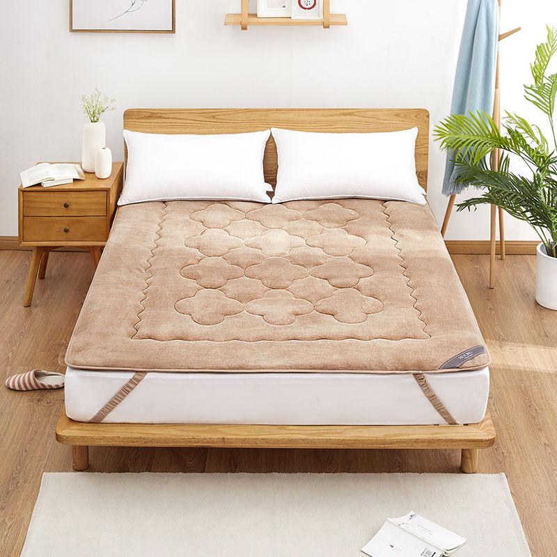 博洋冬季珊瑚绒床垫软垫加厚保暖垫被褥子防滑冬天法兰绒双人床褥