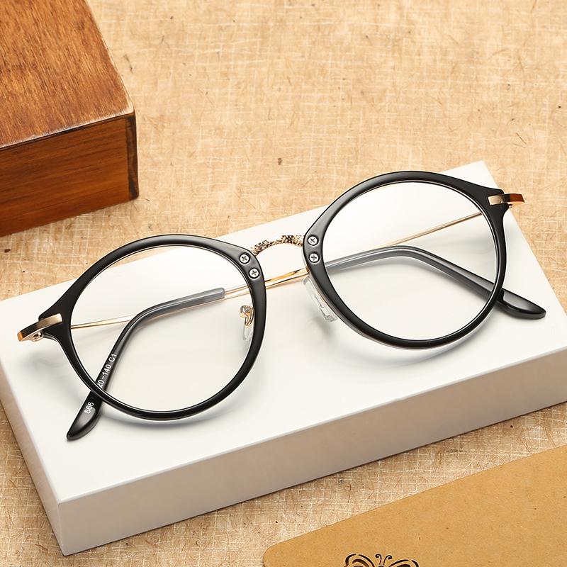 潮流眼镜框女韩版潮大脸圆脸眼睛框镜架全框近视眼镜韩国时尚文艺