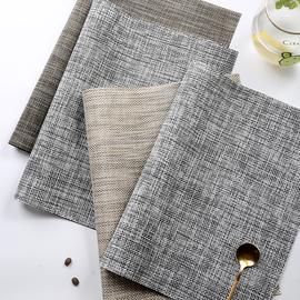仿亚麻餐垫西餐垫 PVC编织餐垫餐布 西餐垫牛排盘垫隔热垫碗垫