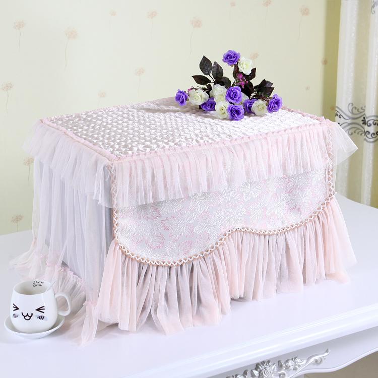 蕾丝布艺微波炉罩防尘罩烤箱罩格兰仕美的韩式盖布微波炉套盖巾