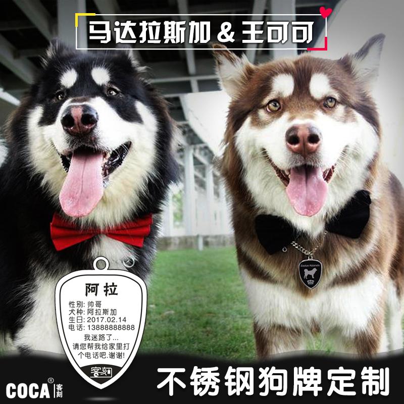 Собака карты личность карты сделанный на заказ надпись фошаньский университет собаки titanium тег стандарт список домашнее животное известный бренд нержавеющей стали цепь