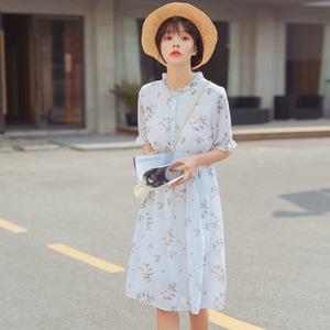 实拍1735#【力荐商品】让人眼前一亮的小清新碎花连衣裙 有里布