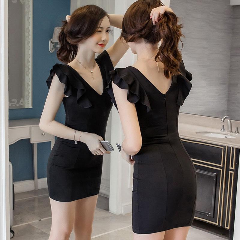 夜场女装2021夏装新款韩版修身显瘦背心裙气质名媛性感包臀连衣裙