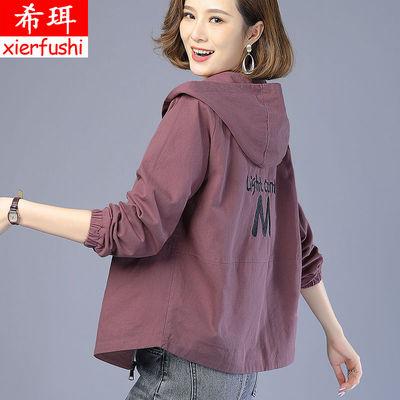 刺绣大码外套女春秋韩版宽松2020新款夹克中年妈妈四十岁短款风衣