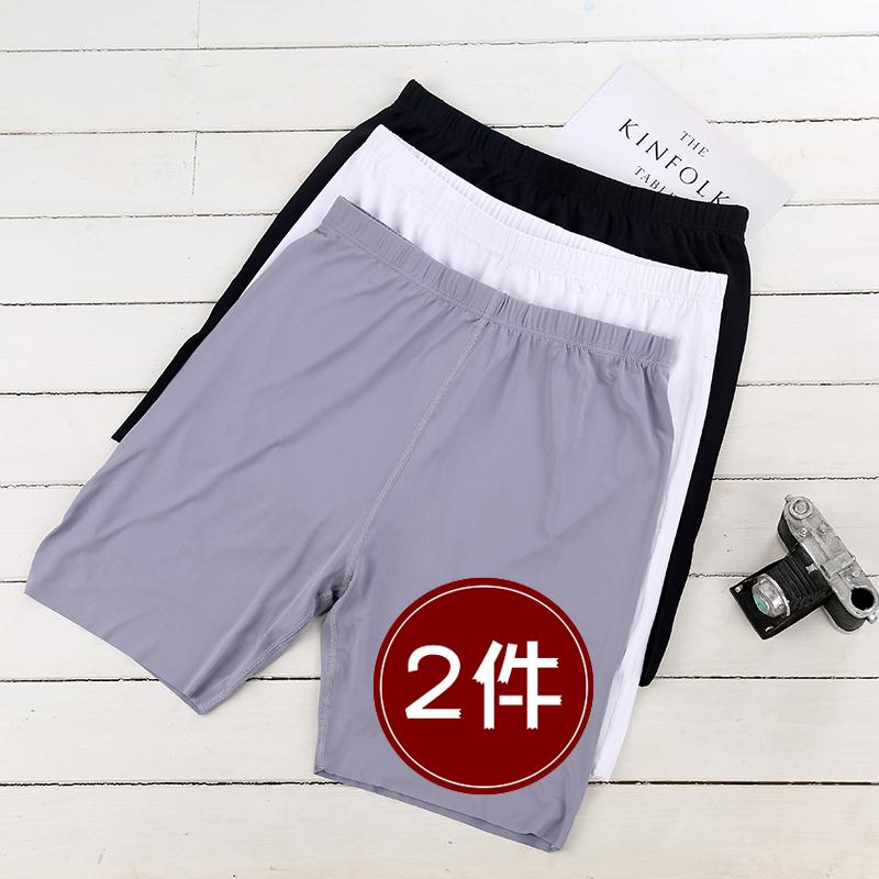 Ice silk shorts mens summer thin youth loose traceless casual home pants pajamas large underpants midpants Capris