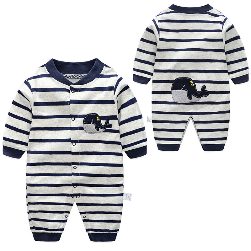 婴幼儿服饰连体衣新生儿衣服0-3个月纯棉初生儿男婴童韩版ins哈衣