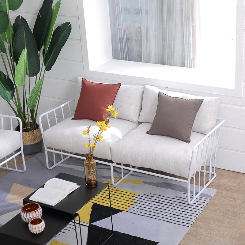 Нордический простой железо диван одежда магазин кофе зал LOFT ткань моно,парный человек офис диван сочетание